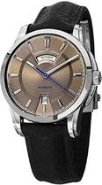 Maurice Lacroix Pontos Day Date Mens Brown Dial Automatic