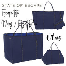 追跡付送料込【STATE OF ESCAPE】Escape tote Navy / Royal blue