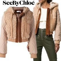 【18AW】★SEE BY CHLOE★shearling hooded jacket