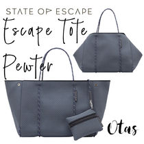 追跡付送料込【STATE OF ESCAPE】Escape tote Pewter ピューター