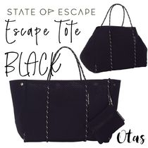 追跡付送料込【STATE OF ESCAPE】Escape tote Black ブラック