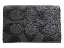 COACH Bifold Card Case Signature PVC F12025