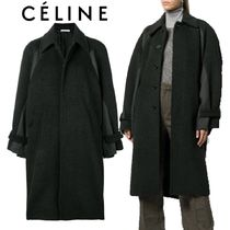 【18AW】★CELINE★oversized draped peacoat