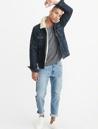 Sherpa-Lined Denim Jacket  sサイズ
