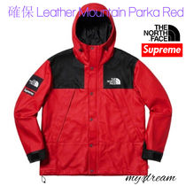 確保【Supreme】The North Face Leather Mountain Parka Red(L)