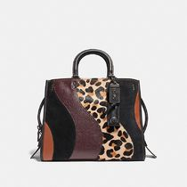 ☆COACH☆ローグrogue with leopard patchwork☆レオパード
