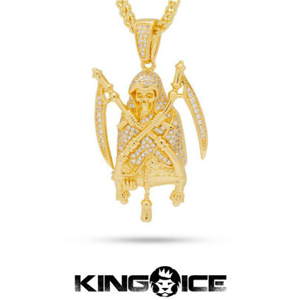 King Ice ネックレス・チョーカー 【King Ice】☆新作☆The 14K Gold Reaper Necklace