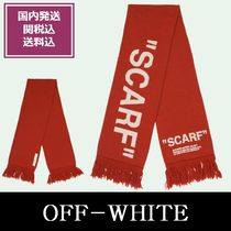OFF-WHITE マフラー(RED QUOTE SCARF)国内発/ 関税・送料込