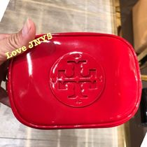 3‐5日着可☆TORY BURCH☆STACKED PATENT SMALL COSMETIC CASE