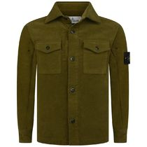 Boys Khaki Brushed Cotton Shirt