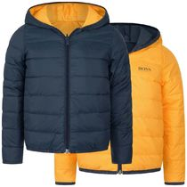 Hugo Boss(ヒューゴボス) キッズアウター Boys Navy Down Padded Reversible Puffer Jacket