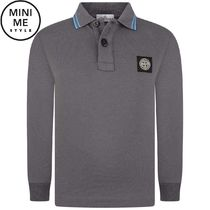 Boys Purple Long Sleeve Polo Top