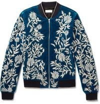 Embellished Embroidered Velvet Bomber Jkt ボマージャケット
