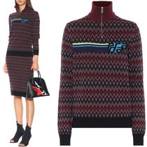 PR1517 CHEVRON WOOL CASHMERE HIGH-NECK SWEATER