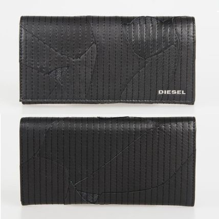 【DIESEL】LEATHER GAME  24 A DAY フラップ長財布 ブラック