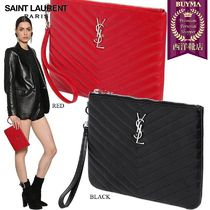 【正規品保証】SAINT LAURENT★18秋冬★MONOGRAM LEATHER POUCH