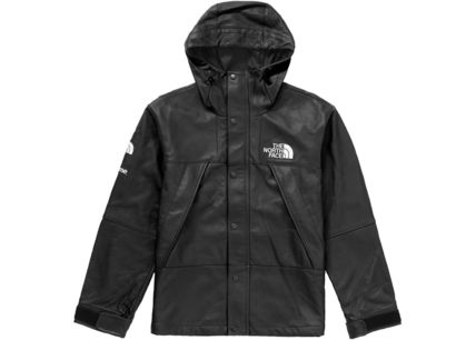 Supreme The North Face Leather Mountain Parka Black 2018