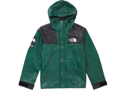Supreme The North Face Leather Mountain Parka Green 2018