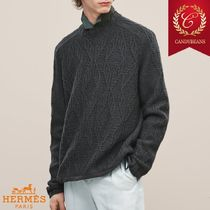 ◆Hermes エルメス Graphique Perfore クルーネック セーター