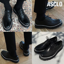 日本未入荷◆ASCLO◆HANDMADE LEATHER 厚底 VOLUME PIPING DERBY