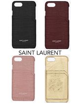 【Saint Laurent 】★CROCODILE SHINY レザー iPhone 7/8ケース