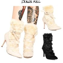 送料/関税込 †DOLLS KILL† COZIED UP ANKLE BOOTIES