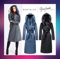 Catherine&Meghan妃愛用ブランドSENTALER:LONG HOODED WRAP COAT