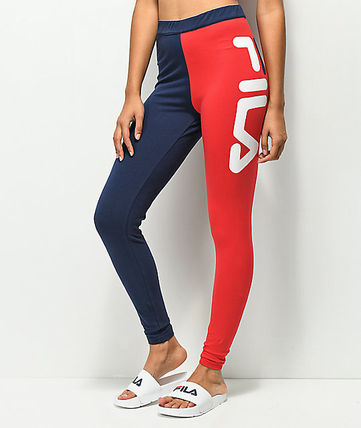 大人気★FILA Vita Blue & Red High Waisted Leggings★