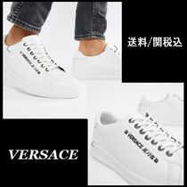 【Versace】Jeans trainers ホワイト レザー スニーカー ♪