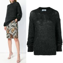 PR1528 MOHAIR BLEND KNIT SWEATER
