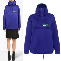 PR1531 TECHNO JERSEY HOODIE WITH LOGO PATCH