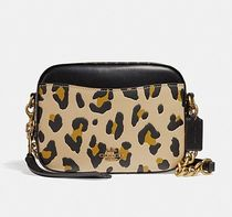 Coach ◆ 32727 Camera bag with leopard print