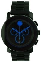Movado Bold Steel And Rubber Large Unisex Watch 3600101並行