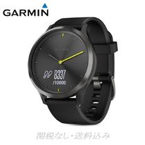 GARMIN(ガーミン) 腕時計その他 vivomove HR Sport Hybrid Black Smartwatch, 43mm