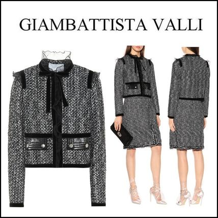 Giambattista Valli★Boucle cotton and silk-blend jacket