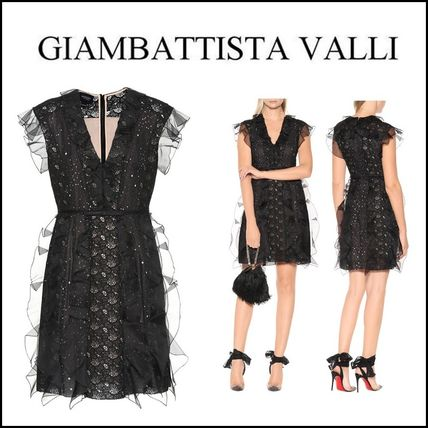 Giambattista Valli★Silk and lace minidress