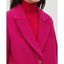 COS☆COAT WITH OVERSIZED LAPELS / dark pink