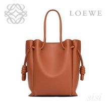 LOEWE★ロエベ Flamenco Knot Tote Small Bag Rust Color