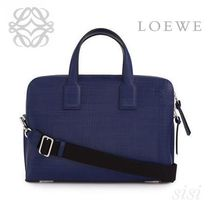 LOEWE★ロエベ Goya Thin Briefcase Navy Blue