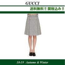 18AW ★ GUCCI (グッチ) GG CANVAS Aラインスカート