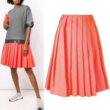 PR1547 NYLON PLEATED MINI SKIRT