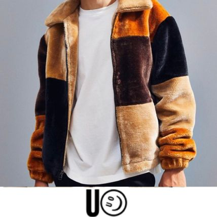 Urban Outfitters ジャケットその他 ★新作 人気 UO Patchwork Faux Fur Jacket フリース 完売★(2)