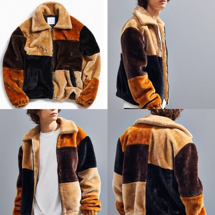 Urban Outfitters ジャケットその他 ★新作 人気 UO Patchwork Faux Fur Jacket フリース 完売★
