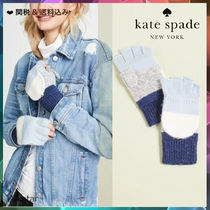 [Kate Spade] 新作♪Brushed Colorblock Pop Top Mittens