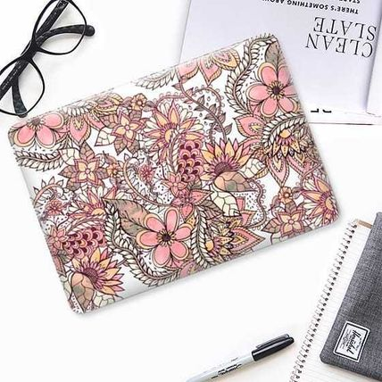 Casetify スマホケース・テックアクセサリー ★Casetify★MacBookケース*Boho chic red brown floral(2)