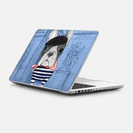 Casetify スマホケース・テックアクセサリー ★Casetify★MacBookケース*Frenchie with Arc de Triomphe