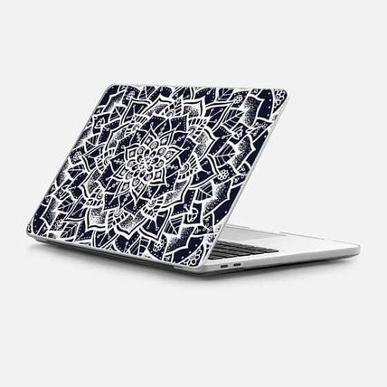 Casetify スマホケース・テックアクセサリー ★Casetify★MacBookケース*White and Blue Mandala