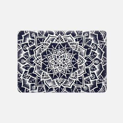 Casetify スマホケース・テックアクセサリー ★Casetify★MacBookケース*White and Blue Mandala(3)