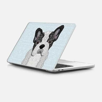 Casetify スマホケース・テックアクセサリー ★Casetify★MacBookケース*Black & White Frenchie Puppy 001