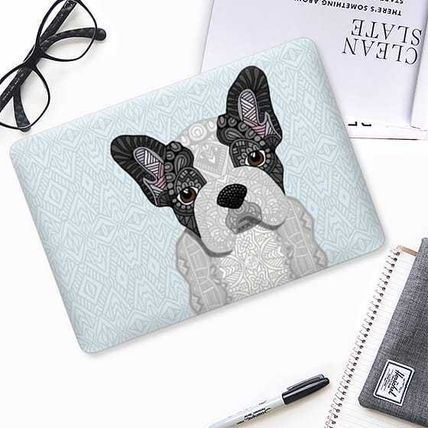 Casetify スマホケース・テックアクセサリー ★Casetify★MacBookケース*Black & White Frenchie Puppy 001(2)